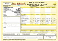 Landlords Gas Safety Record for Leisure Industry (Personalised) Pad 14